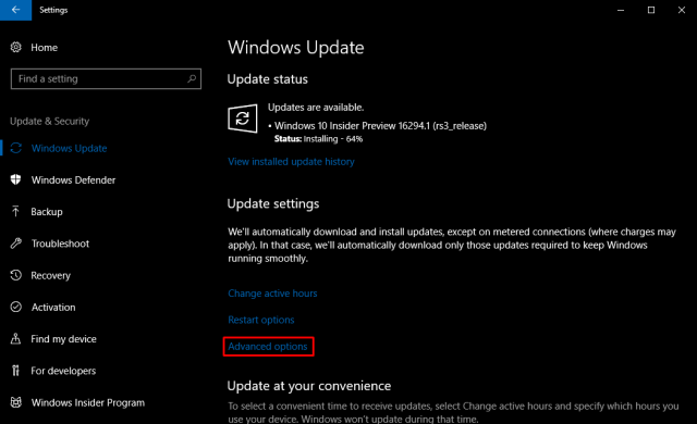 Control bandwidth Windows Update 2