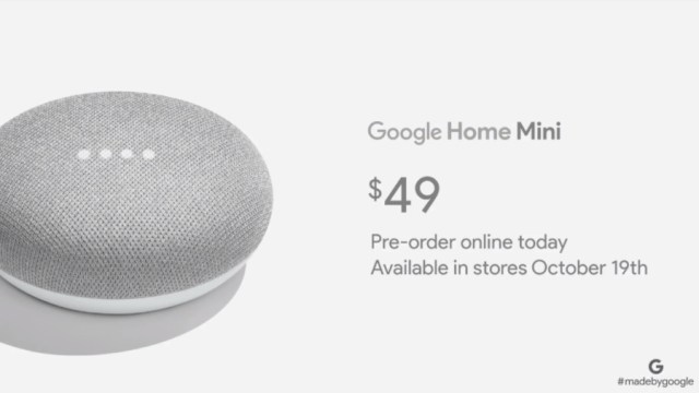 Event Google Pixel 2: Google Luncurkan Home Mini