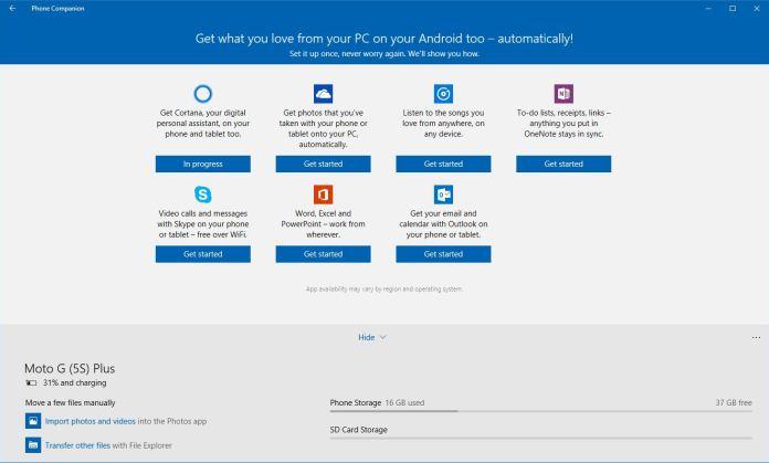 Gunakan Microsoft Phone Companion untuk Melanjutkan PC 7