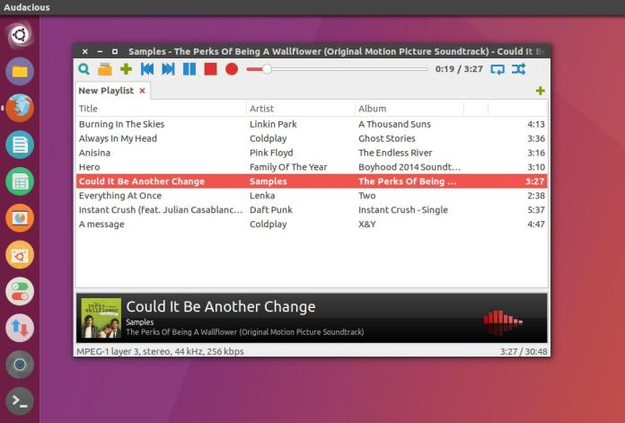 audacious music player linux