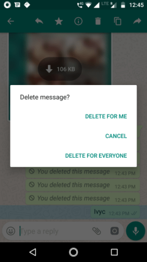 delete whatsapp message everyone