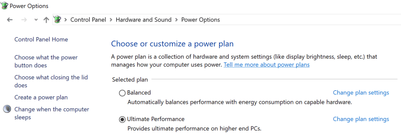 Windows 10 Pro Ultimate Performance