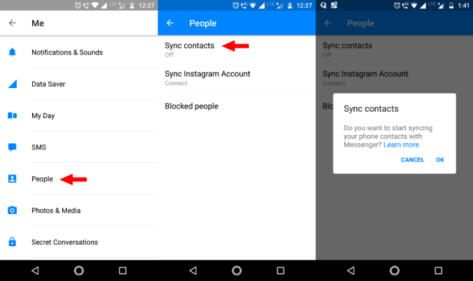Disable Facebook Data Collection Messenger Android