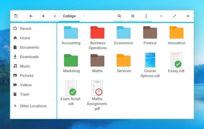 zorin os 12.3 Files-Folders