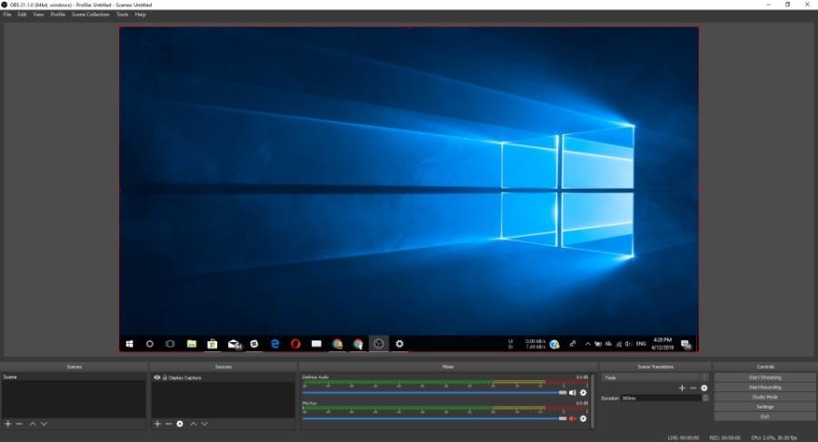 Perangkat Lunak Perekaman Layar Terbaik Windows 3 OBS Studio
