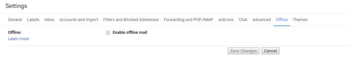 Mode Offline Gmail 1