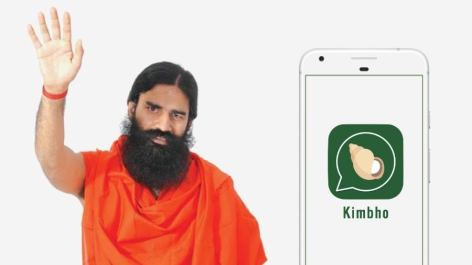 Image result for Patanjali launched 'Kimbho' to compete with WhatsApp