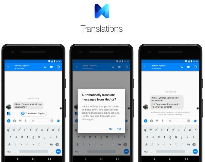Terjemahan chat messenger Facebook