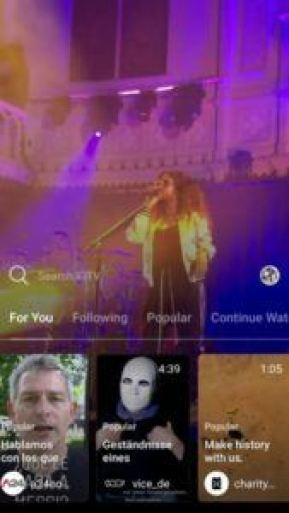 Домашняя страница IGTV