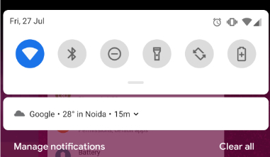 Android P manage notification
