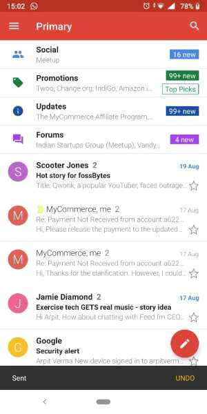 Unsend mail on gmail