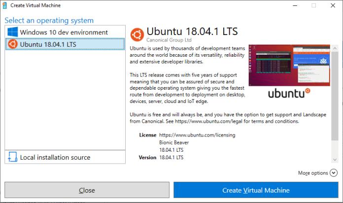 Sekarang Menjalankan Ubuntu VMs Pada Windows 10 Lebih Mudah Dengan Quick Qreate Hyper-V