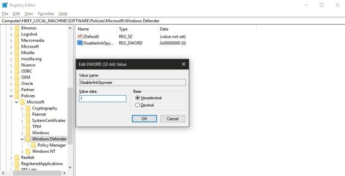 Bagaimana Cara Nonaktifkan Permanen/Sementara  Windows Defender di Windows 10?