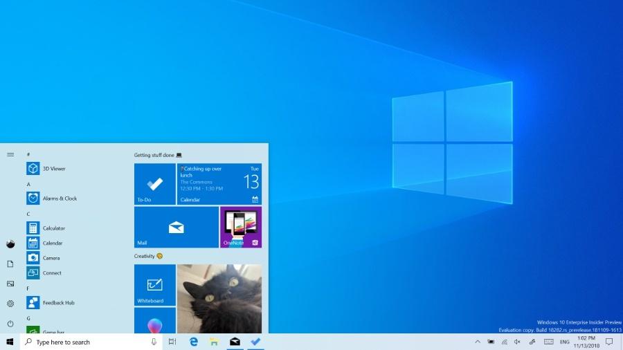 Microsoft Windows 10 Light Theme