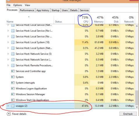 wsappx Windows с высоким уровнем использования диска