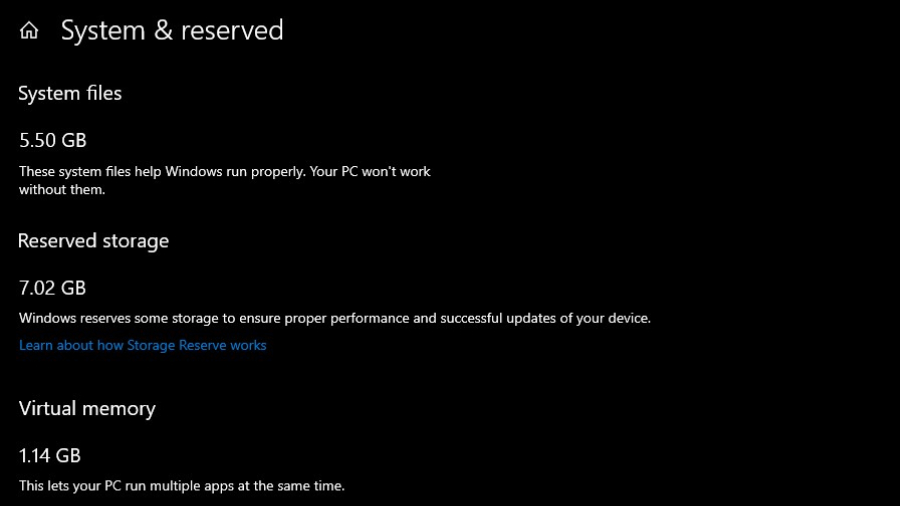 Penyimpanan Khusus Windows 10
