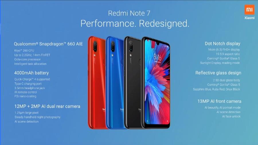 Redmi Note 7 Spesifikasi