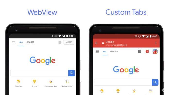 Tampilan Web dan Tab Kustom di Google Chrome