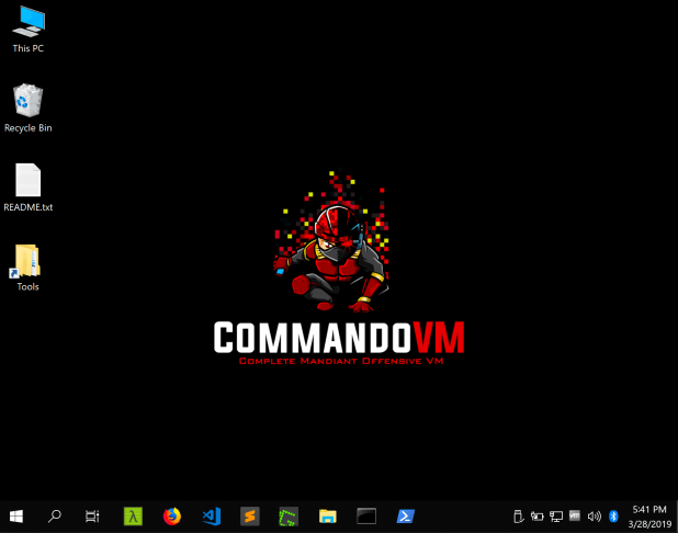 commando vm windows desktop