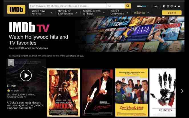imdb tv download de filme grátis