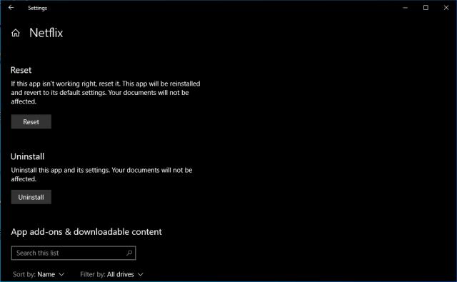 Netflix Is Not Working 4.1 Reset Netflix App Windows 10