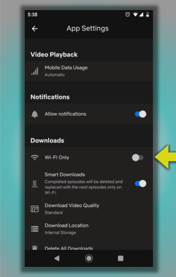 Netflix not working disable Wifi only cellular