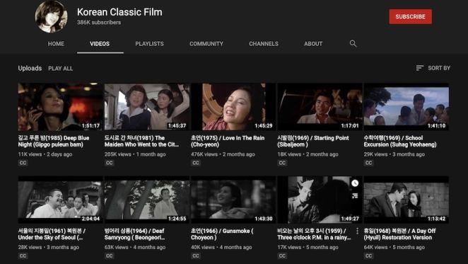 filmes clássicos coreanos