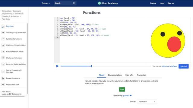 Khan academy_Melhores sites de codificação gratuitos