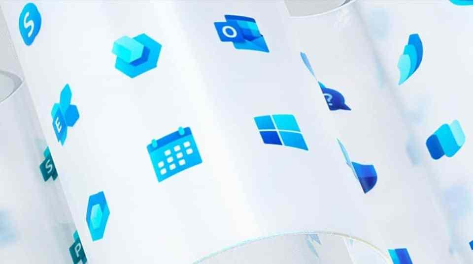 Desain Lancar Logo Microsoft Windows Baru