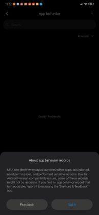 Perilaku aplikasi Xiaomi miui 11