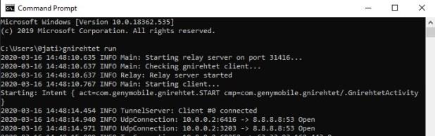 partager la connexion Internet d'un PC avec un Android en utilisant Gnirehtet