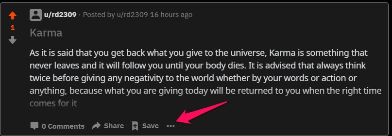 Reddit кнопка три точки