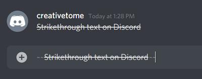 Discord Strikethrough command
