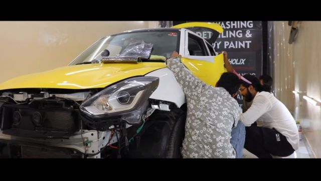 Maruti Swift Body Wrap modification