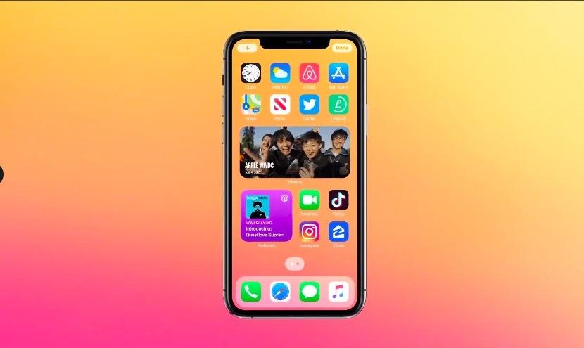 iOS 14 widget di layar beranda
