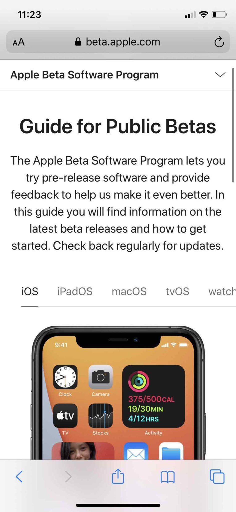Apple, публичная бета-версия iOS: iPadOS
