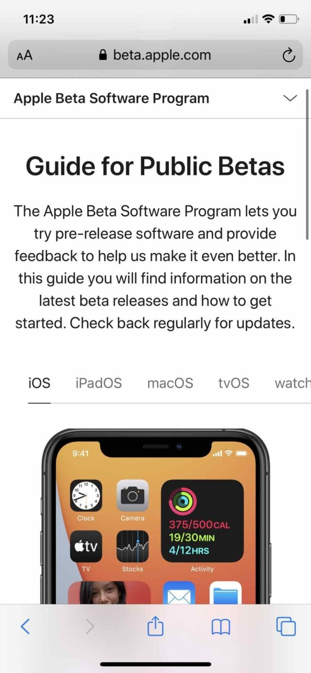 Apple public beta iOS:iPadOS