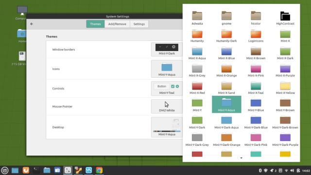 Linux Mint desktop themes