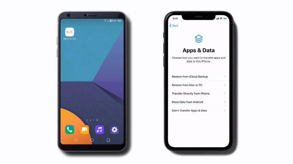 Перенести на iOS переносить контакты Android на iPhone