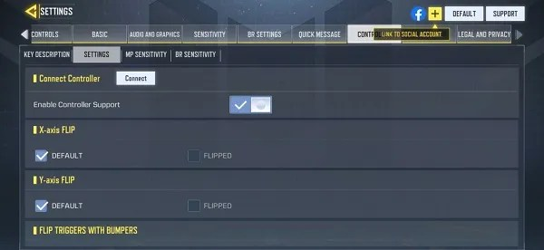 Enable Call of Duty Mobile Controller