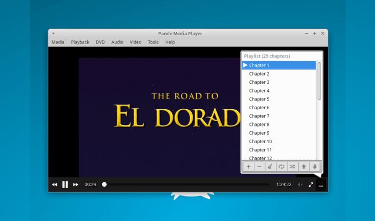 Parole Media Player 4.15.0 do Xfce lançado com suporte aprimorado para DVD