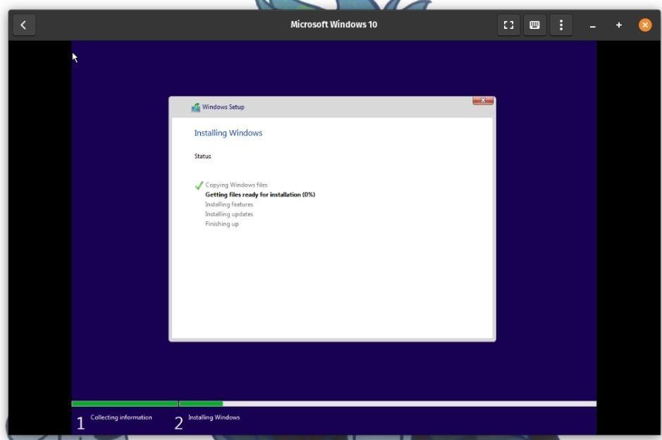 Установка индикатора выполнения Windows