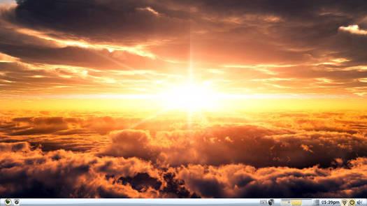 Bodhi Linux Moksha Sunshine theme