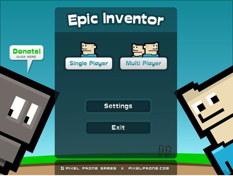 Epic Inventor - Free Side Scrolling Action RPG Game about a mad scientist and his robot