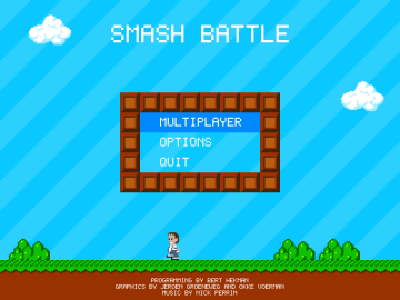 Smash Battle - a Free Retro 8-bit style platform shooter PC Game