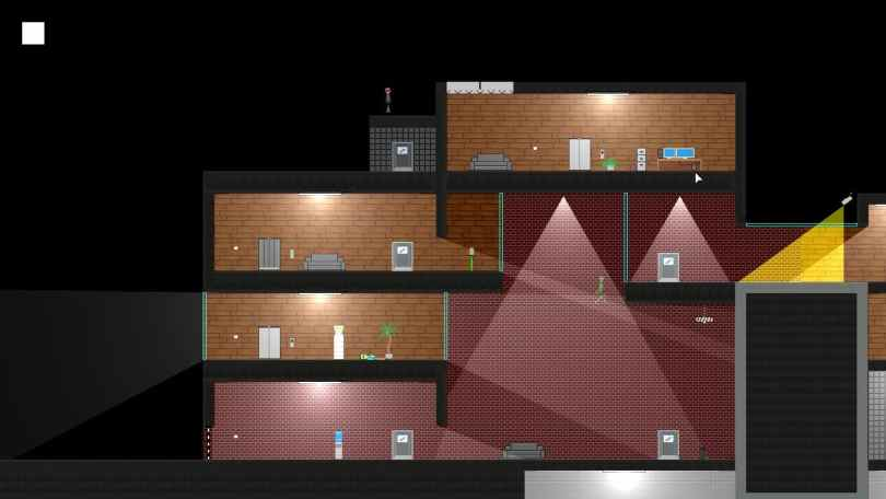 Clonepoint - free stealth puzzle platform game, clone of Gunpoint