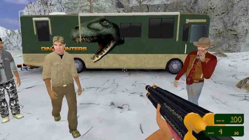 The DinoHunters - an advertisement-supported FPS Game