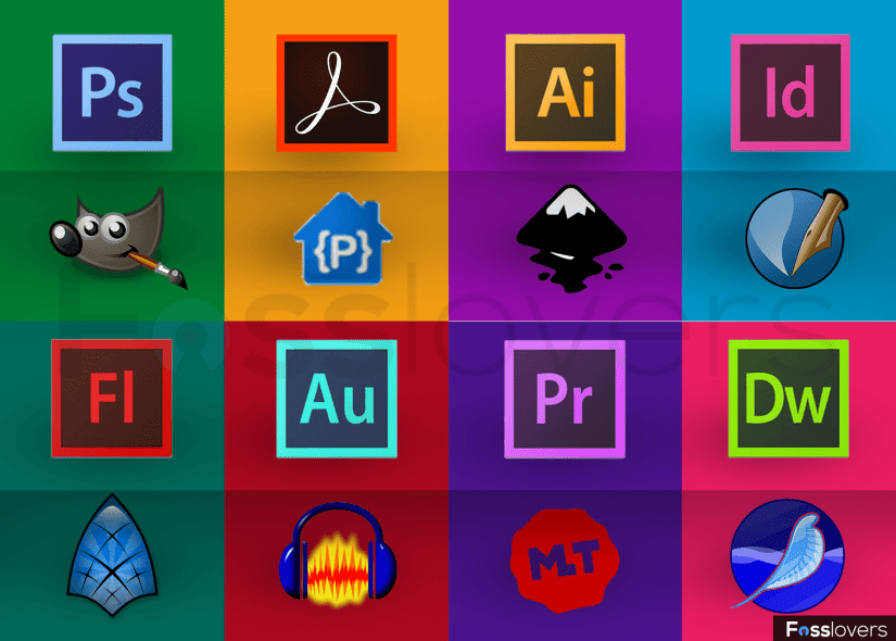 Adobe Creative Alternative Free and Open Source Softwares