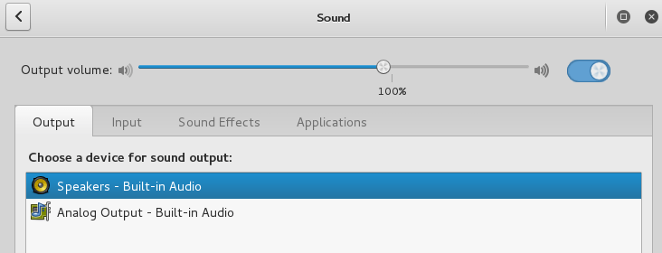 audio setting