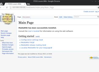 wiki homepage